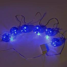 """Гирлянда """"Шарики со светодиодами"""", 18 синих светодиодов по 3 штуки в каждом шарике"""