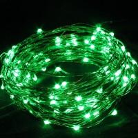 Гирлянда на 30 зеленых минидиодов с контроллером, на батарейках
