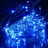 Гирлянда на 100 синих минидиодов с контроллером