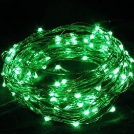 Гирлянда на 100 зеленых минидиодов с контроллером