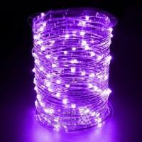 Гирлянда на 100 фиолетовых минидиодов с контроллером