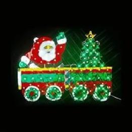 """Новогоднее украшение """"Санта-Клаус на поезде"""""""