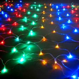 """Гирлянда """"Сетка"""" 144 разноцветных светодиодов"""