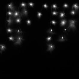 """Гирлянда """"Сосульки"""", 100 белых светодиодов"""