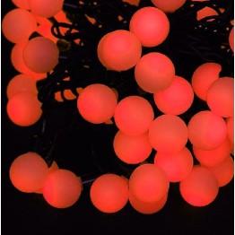 """Гирлянда с насадками """"шарики"""", 70 красных светодиодов"""