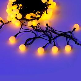 """Гирлянда """"Шарики цветные"""", 70 желтых светодиодов"""