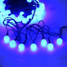"""Гирлянда """"Шарики цветные"""", 100 синих светодиодов"""