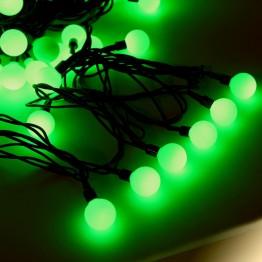 """Гирлянда """"Шарики цветные"""", 100 зеленых светодиодов"""