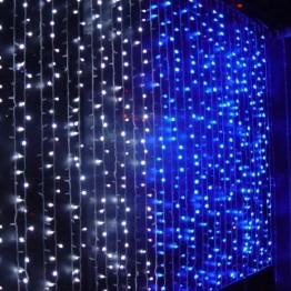"""Гирлянда """"Занавес"""" на 625 светодиодов, синий"""
