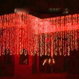 """Гирлянда """"Занавес"""" на 625 светодиодов, красный"""