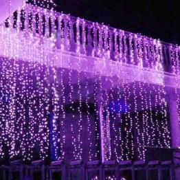 """Гирлянда """"Занавес"""" на 625 светодиодов, фиолетовый"""