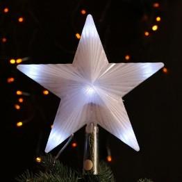Звезда - украшение для новогодней елки, мигающая
