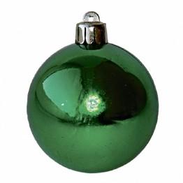 Набор глянцевых зелёных шариков диаметром 6 см