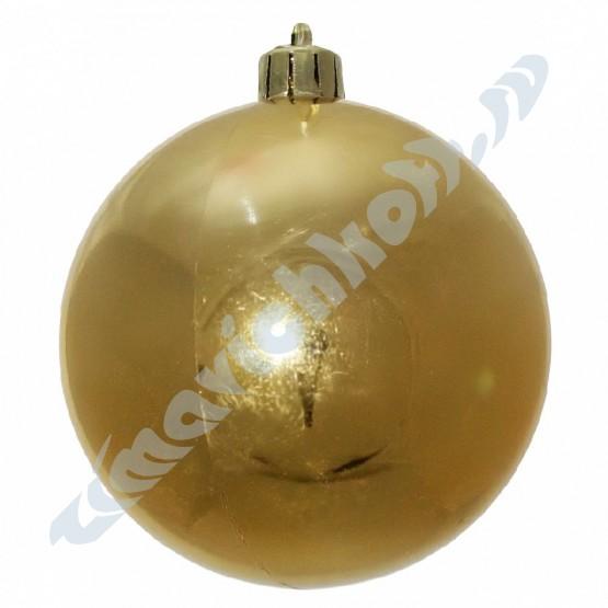 Набор глянцевых золотых (6 штук) шариков диаметром 8 см
