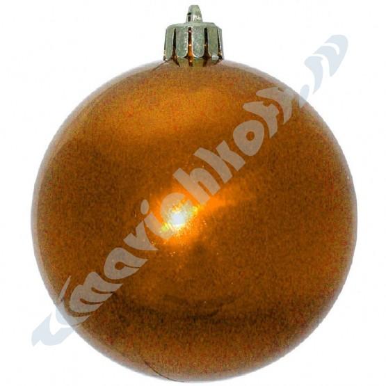 Набор глянцевых оранжевых (6 штук) шариков диаметром 8 см