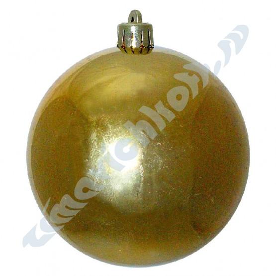 Золотой зеркальный шар диаметром 10 см