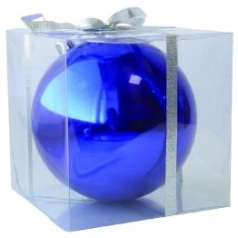 Синий зеркальный шар диаметром 10 см
