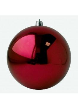 Красный зеркальный шар диаметром 10 см