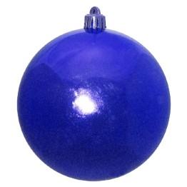 Синий зеркальный шар диаметром 12 см
