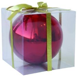 Красный зеркальный шар диаметром 12 см
