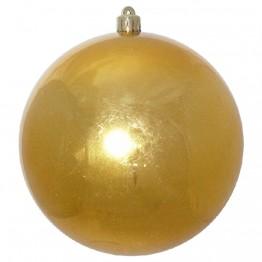 Золотой зеркальный шар диаметром 15 см