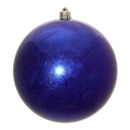 Синий зеркальный шар диаметром 15 см