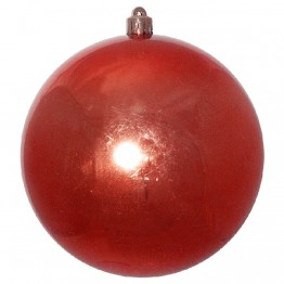 Красный зеркальный шар диаметром 15 см