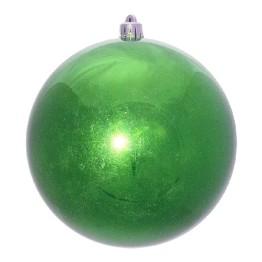Зеленый зеркальный шар диаметром 15 см