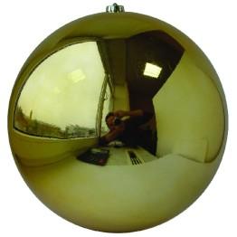 Золотой зеркальный шар диаметром 20 см