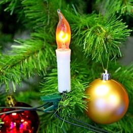 Ёлка с мерцающими свечами