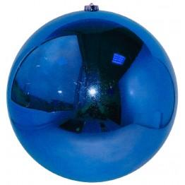Синий зеркальный шар диаметром 20 см