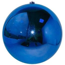 Синий зеркальный шар диаметром 25 см