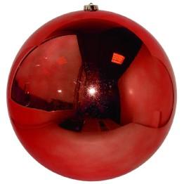 Красный зеркальный шар диаметром 25 см