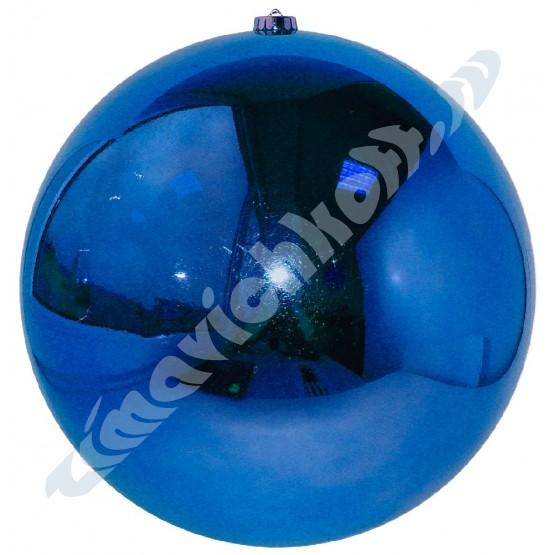 Синий зеркальный шар диаметром 30 см