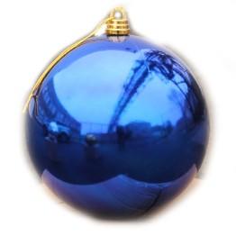 Синий зеркальный шар диаметром 50 см