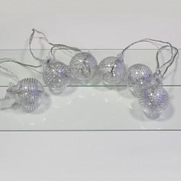 """Гирлянда """"Шарики со светодиодами"""", 18 фиолетовых светодиодов"""