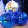 Синий матовый шар диаметром 50 см