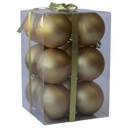 Набор матовых золотых шариков диаметром 6 см