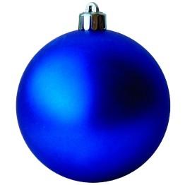 Набор матовых синих шариков диаметром 6 см