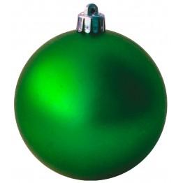 Набор матовых зеленых шариков диаметром 6 см