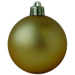 Набор матовых золотых шариков диаметром 8 см