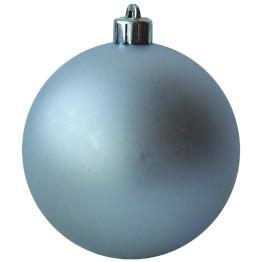 Набор матовых серебряных шариков диаметром 8 см