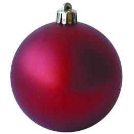 Набор матовых красных шариков диаметром 8 см