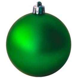 Набор матовых зеленых шариков диаметром 8 см