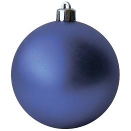 Матовый шар синий диаметром 10 см