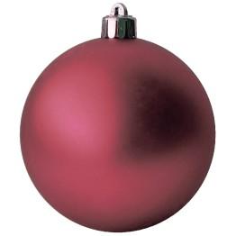 Матовый шар красный диаметром 10 см