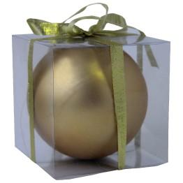 Матовый шар золотой диаметром 12 см