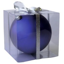Матовый шар синий диаметром 15 см