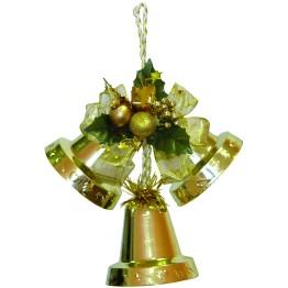 Подвеска колокольчики золото