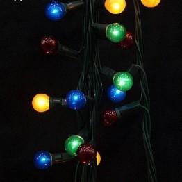 """Гирлянда """"Жемчужные шарики"""", 72 разноцветные лампочки с контроллером"""